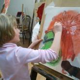 studie, deštník+ džbán, Anežka 8 let