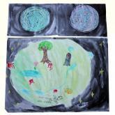 11 let - Hvězdy + Co je na měsíci? pastel, vodovky