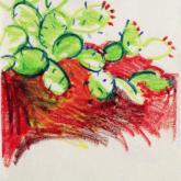 kaktus, pastel