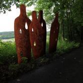 Křížová cesta  - palčící ženy - železo