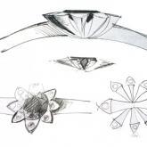 návrh prstenu - kresba
