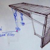 návrh stolu - kresba