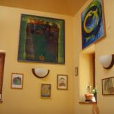 2013 výstava obrazů, kavárna v Parku